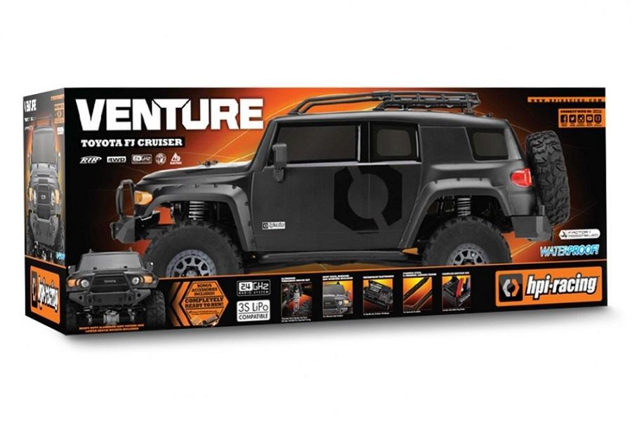 HPI Matte Black Venture Toyota FJ Cruiser