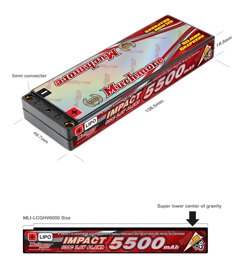 Muchmore Super LCG IMPACT Silicon Graphene Li-Po Battery