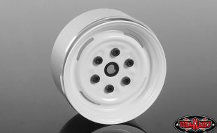 RC4WD Vintage Yota 6 Lug Stamped Steel 1.55″ Beadlock Wheels (White)