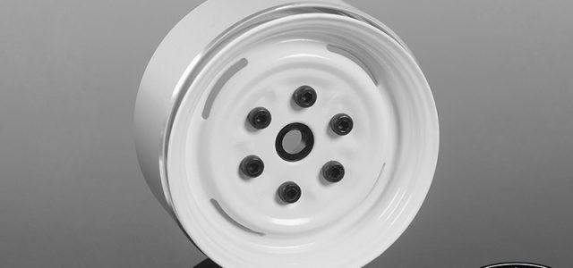 RC4WD Vintage Yota 6 Lug Stamped Steel 1.55″ Beadlock Wheels (White)