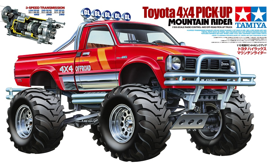 tamiya limited edition toyota 4x4 pick up mountain rider rc car action. Black Bedroom Furniture Sets. Home Design Ideas