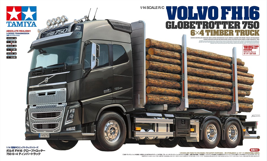 Tamiya Volvo FH16 Globetrotter 750 6x4 Timber Truck