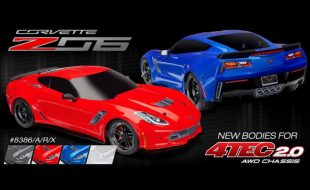 Traxxas Corvette Z06 Bodies for 4-Tec 2.0