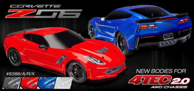 Traxxas Corvette Z06 Bodies for 4-Tec 2.0