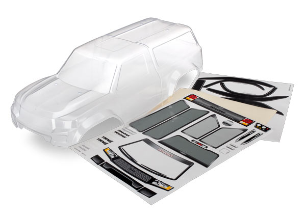 Traxxas TRX-4 Sport Camper Clear Body