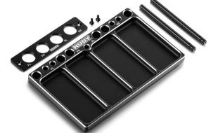 HUDY Aluminum Tray for 1/10 Off-Road Diff & Shocks