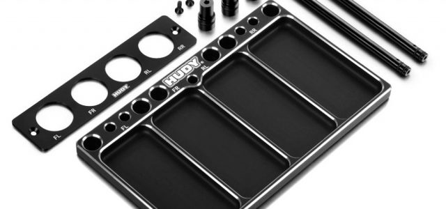 HUDY Aluminum Tray for 1/8 Off-Road Diff & Shocks