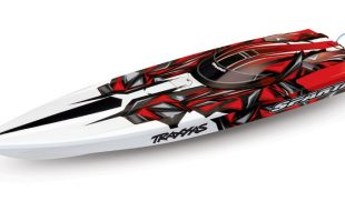 Traxxas RTR Spartan Brushless Boat With New Red Paint Scheme