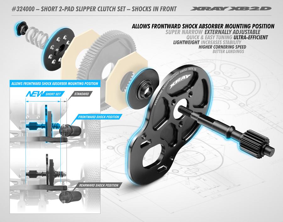 XRAY Short 2-Pad Slipper Clutch Set