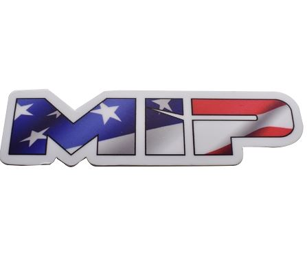 MIP American Flag Die Cut Vinyl Sticker