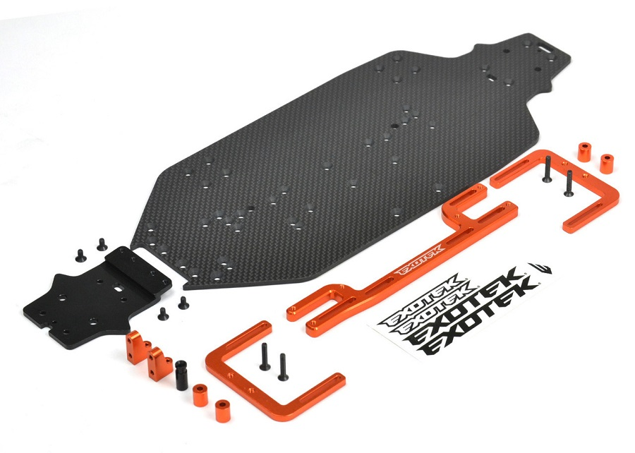 Exotek Speed Chassis Conversion Kit For The HPI WR8 1/8 Flux
