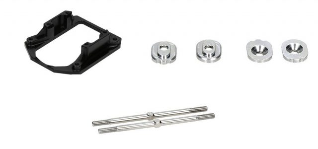 HB Racing 1-Piece Engine Mount, Adjuster Cams & D817T Titanium Turnbuckles