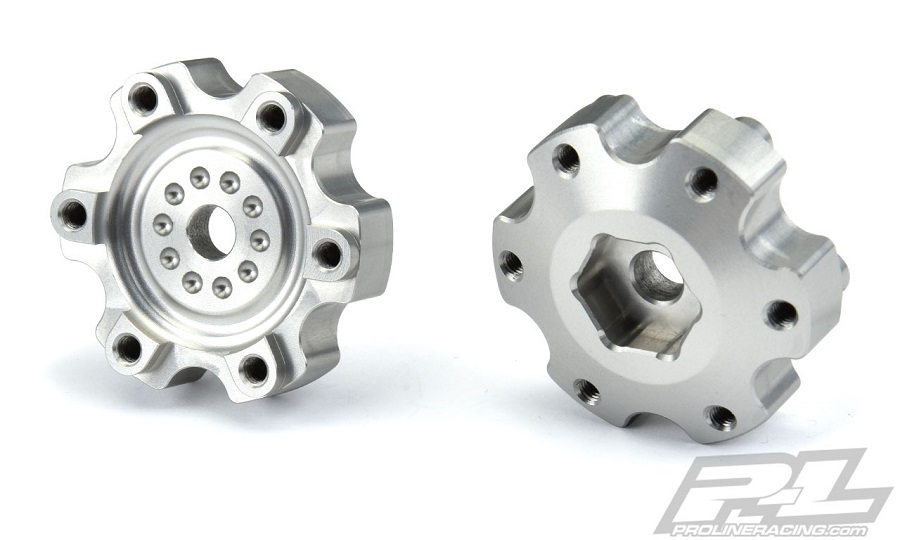 Pro-Line 6x30 To 12mm Aluminum Hex Adapters