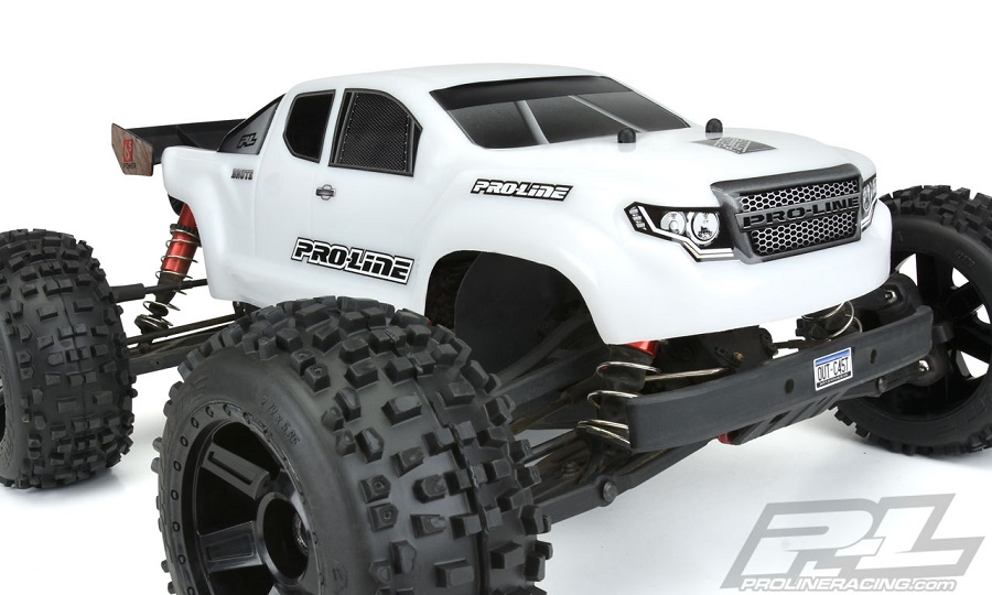 Pro-Line Pre-Cut Brute Bash Armor (White) Body For The ARRMA Outcast & Notorious