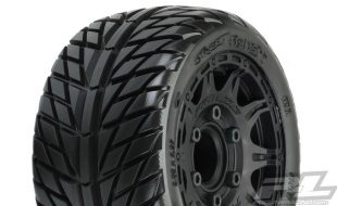 Pro-Line Street Fighter LP 2.8″ Street Tires Mounted On Raid Wheels