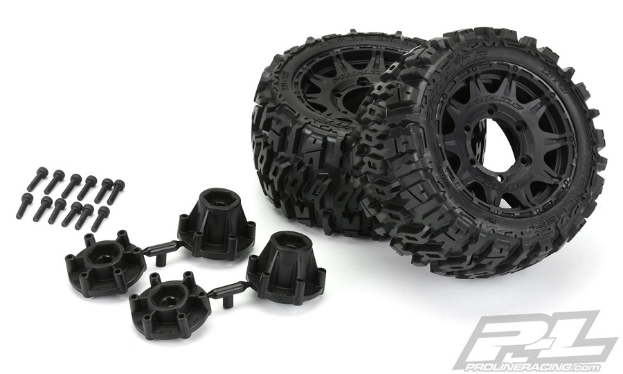 "Pro-Line Trencher LP 2.8"" All Terrain Tires Mounted On Raid Wheels"