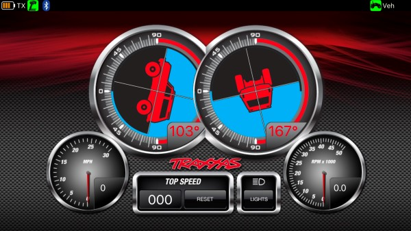 Real-Time Inclinometer Gauge For The Traxxas Link