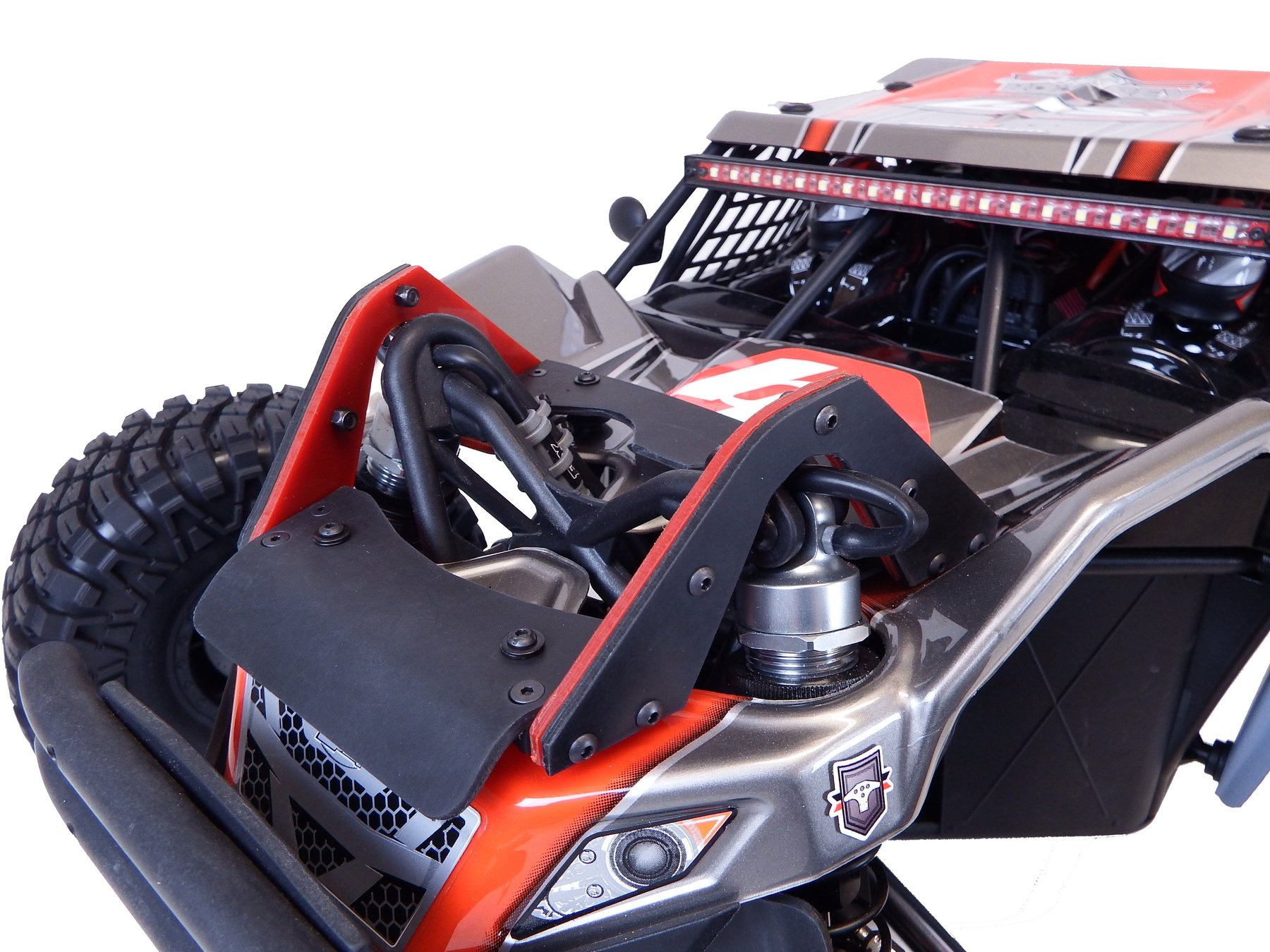 T-Bone Racing Shock Tower Guard & Chassis Skid For The Losi Super Rock Rey