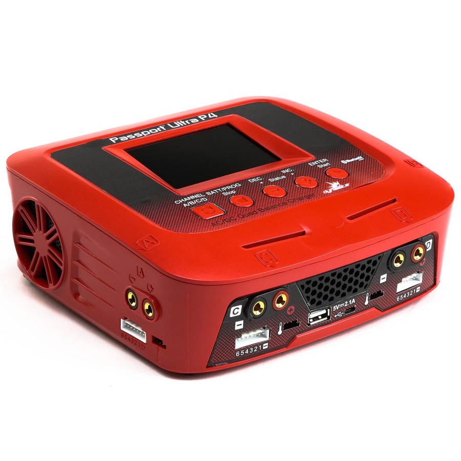 Dynamite RC Passport P4 200W AC/DC 4-Port Multicharger With Bluetooth Connectivity