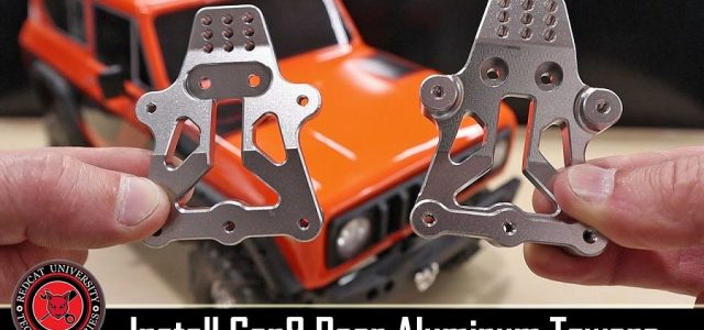 How To Install An Aluminum Rear Shock Tower For The Redcat Racing Gen8 Scout [VIDEO]