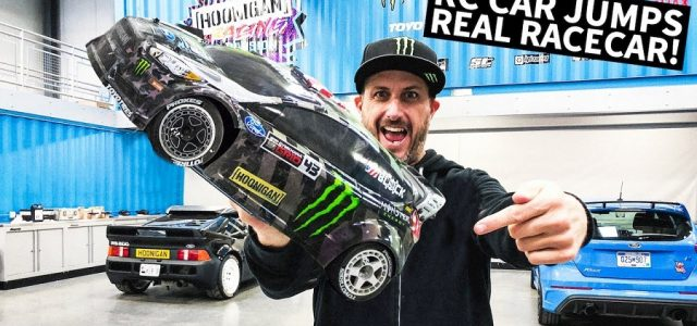 Ken Block's 1/8 Scale RC Shred Session… Around Real Racecars! [VIDEO]