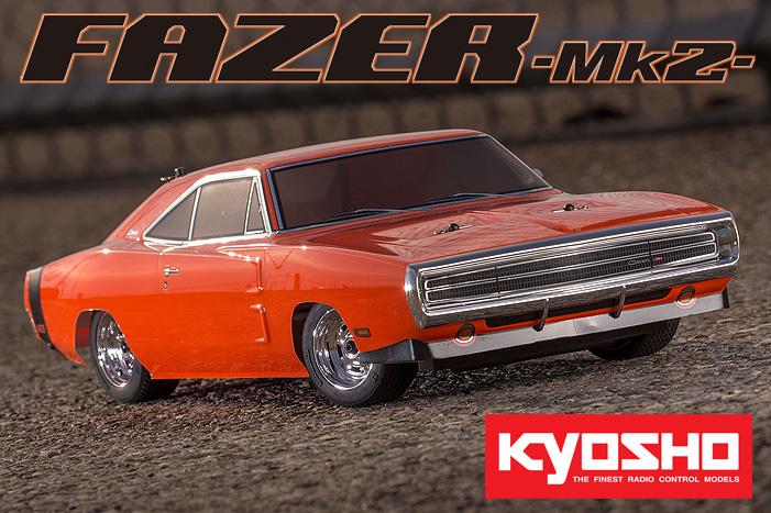 Kyosho Readyset Fazer Mk2 1970 Orange Dodge Charger Hemi