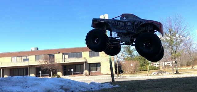 Primal RC Raminator Monster Truck Jumping With Stock Mid Range Gearing [VIDEO]