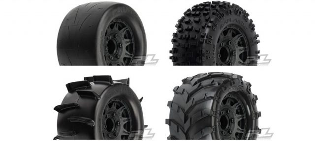 Pro-Line Mounted 2.8″ Badlands, Sand Paw, Masher & Prime Tires