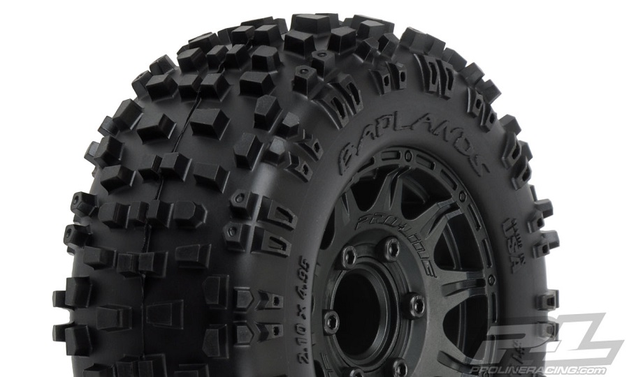 "Pro-Line Mounted 2.8"" Badlands, Sand Paw, Masher & Prime Tires"