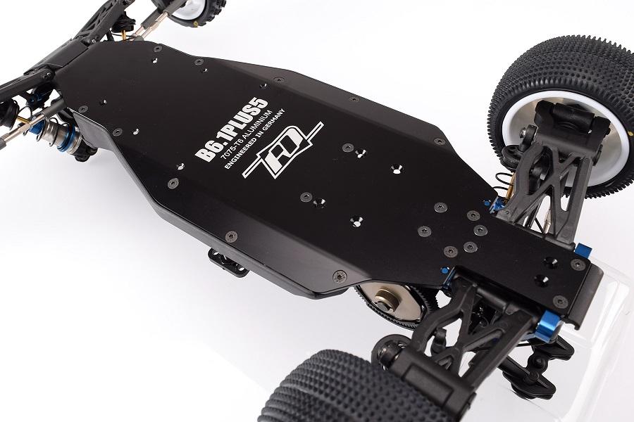 RDRP B6.1 +5mm 7075 Black Aluminium Chassis