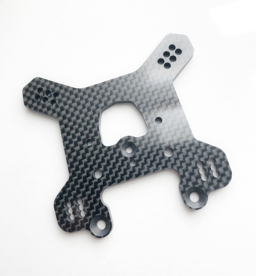 Schelle 2-Row Carbon Rear Tower For The RC8B3.1