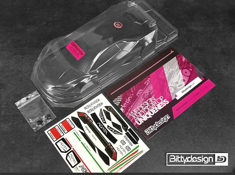 Bittydesign AGATA 1/12 Clear Body
