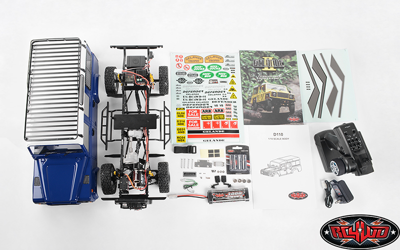 "RC4WD Collector's Edition Gelande II ""LWB"" RTR With D110 Hard Body Set"