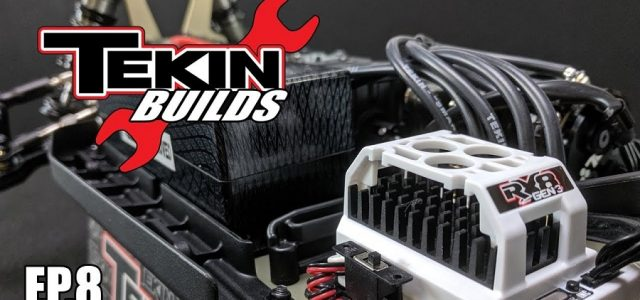 Tekin Builds Ep. 8 – TLR 8IGHT-X E Electronics Install [VIDEO]