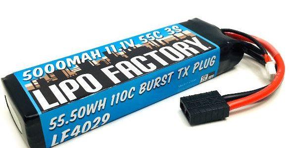 Trinity Lipo Factory 3S 11.1V 5000MAH 55C Standard Pack With Traxxas Plug