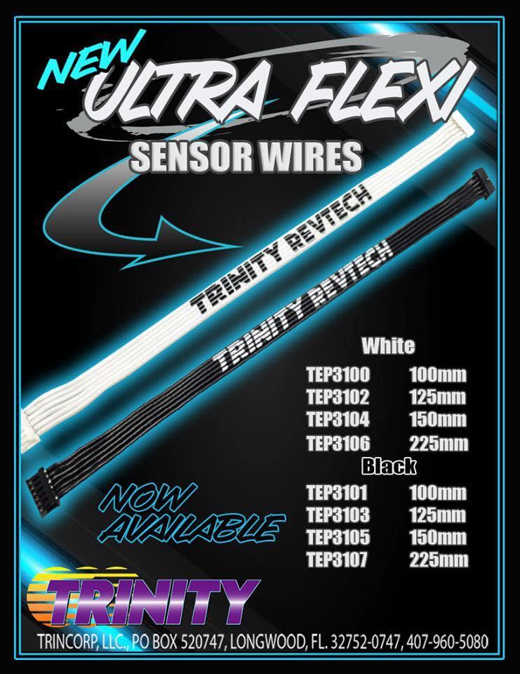 Trinity Ultra Flexi White Or Black Flat Sensor Wires