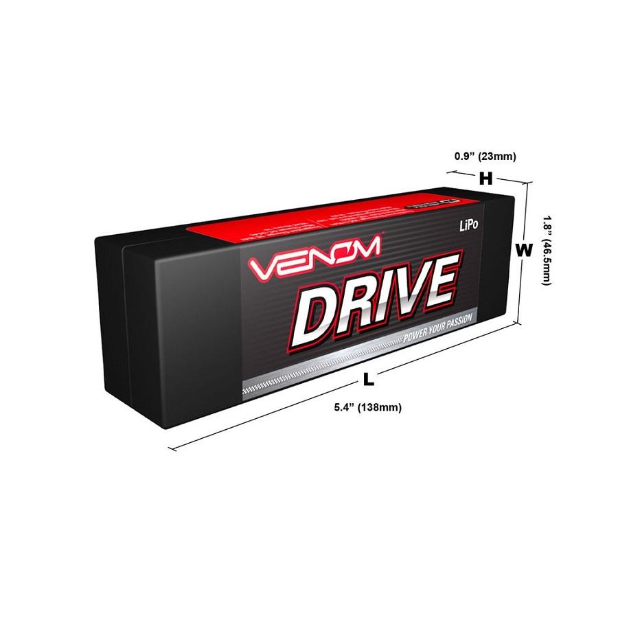 Venom Graphene Drive 5000mAh Hard Case & Soft LiPo Packs