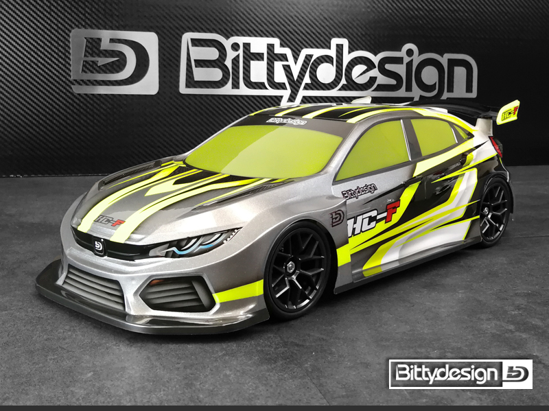 Bittydesign HC-F 1/10 FWD Clear Body