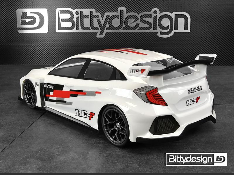 Bittydesign HC-F 1/10 FWD Clear Body