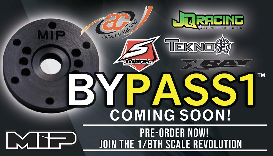 MIP Adds Bypass1 Pistons For Agama, JQ, Sworkz, Tekno & XRAY Vehicles