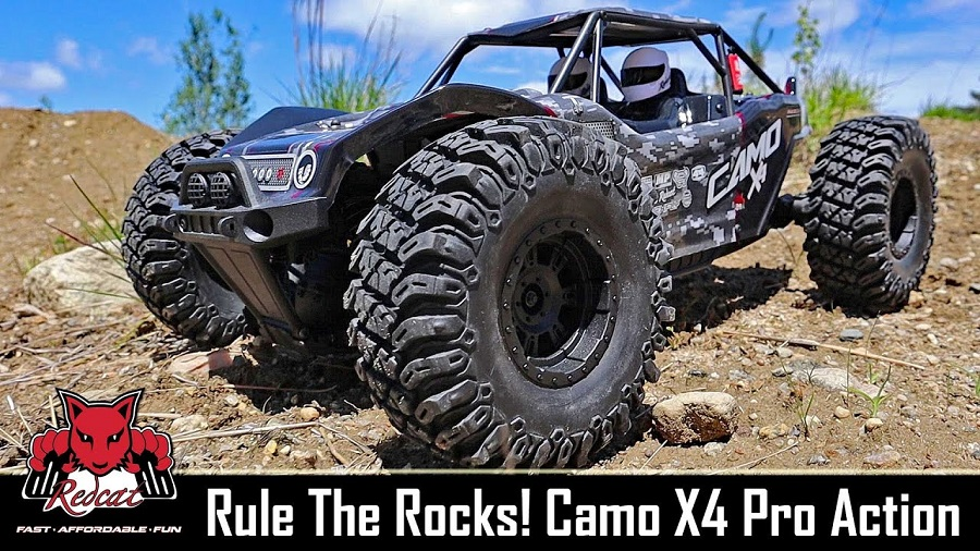 Redcat Racing X4 Camo Pro Rock Racer Buggy Off-Road Action