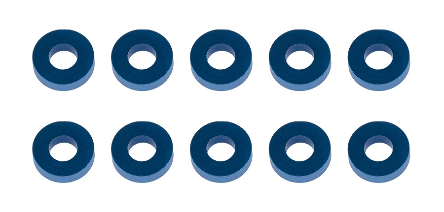 Associated 1/10 & 1/8 Blue Aluminum Washers
