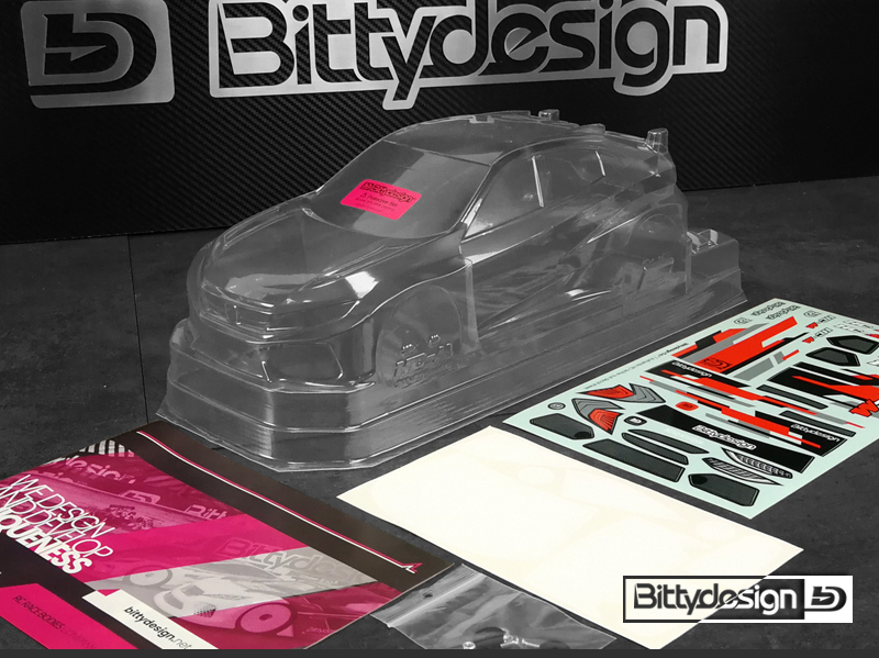 Bittydesign HC-M 1/10 M-Chassis Clear Body