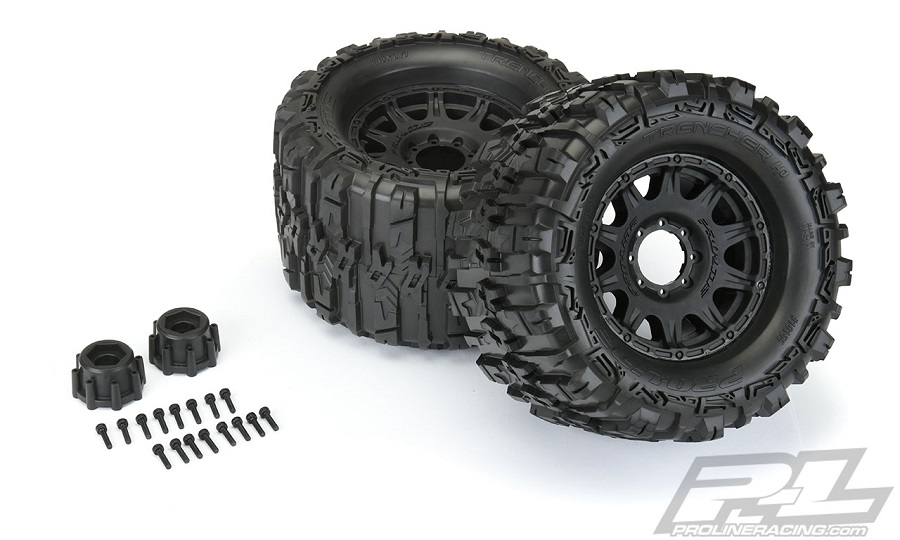 Pro-Line Mounted Trencher HP 3.8 All Terrain BELTED Truck Tires
