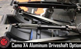 Redcat Camo X4 Aluminum Center Driveshaft Option Install [VIDEO]
