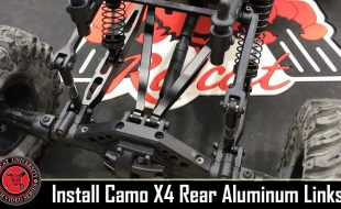 Redcat Camo X4 Aluminum Rear Suspension Links Install [VIDEO]