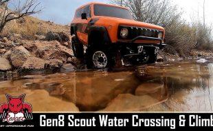 Redcat Racing Gen8 Scout II Scale Crawler Water Crossing & Climb [VIDEO]