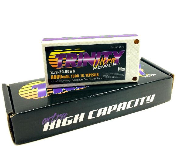 Trinity White Carbon 3.7v 1S 8000mah LiPo