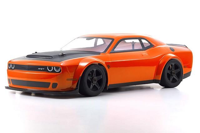 Kyosho INFERNO GT2 Race Spec Dodge Challenger Demon Go Mango