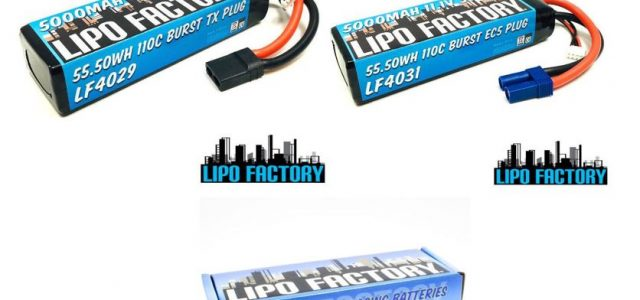 Lipo Factory 3S 11.1V 5000mah 55C LiPos With TX & EC5 Plugs